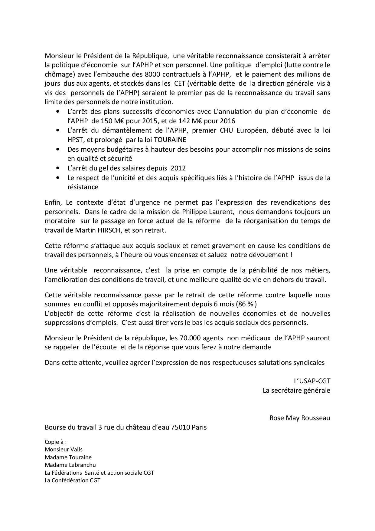 lettre ouverte USAP CGT au Président de la République-page-002